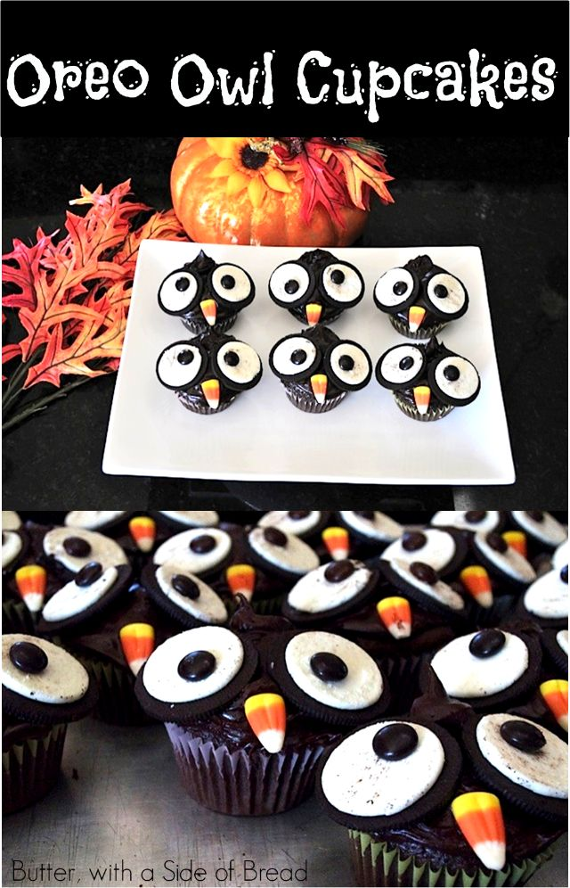 oreo owl cupcakes halloween cupcakes easyhalloween cupcakes decorationcupcakes