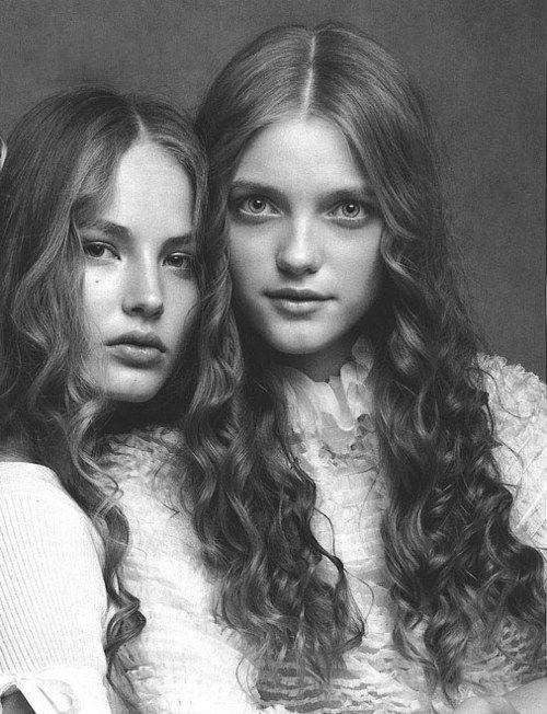 Vlada Roslyakova  Ruslana Korshunova by Patrick Demarcheiler for Vogue Italia