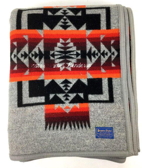 Beaver State Pendleton Wool Blanket Lot 1070