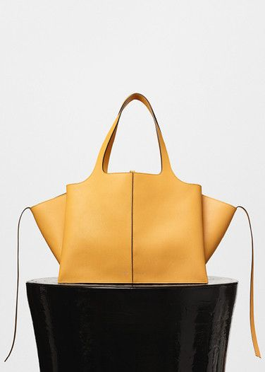 Medium Tri-Fold Bag in Natural Calfskin - Céline