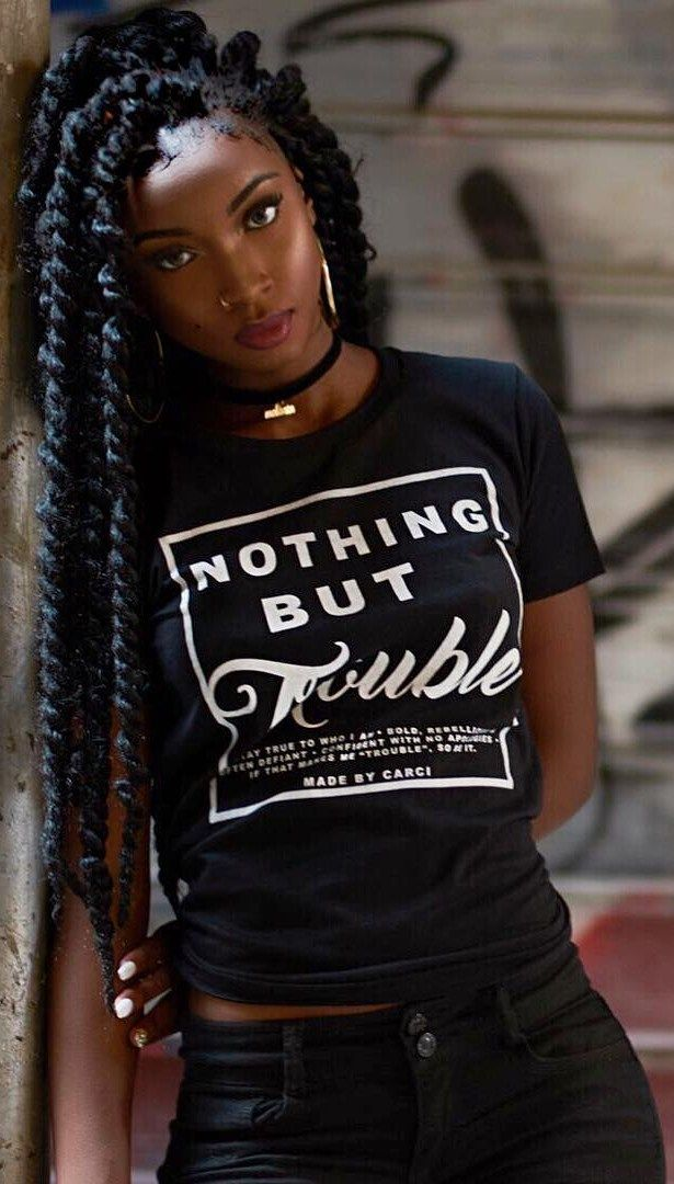 Nothing But Trouble // Shirt: @carci._  , Photo by @villainoire // Hair Trend by Aïssata
