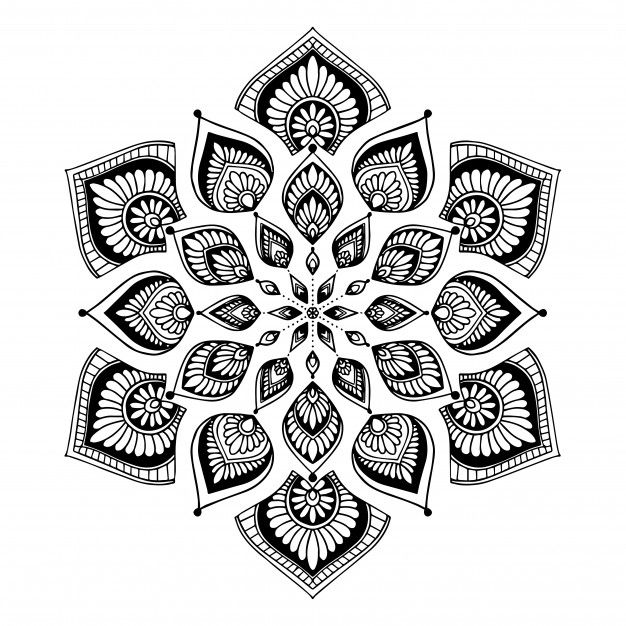 Mandalas For Coloring Book Oriental Vector Anti Stress Therapy Patterns Yoga Logos Vec Coloring Books Anti Stress Mandala Vector