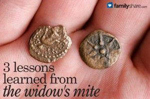 3 lessons learned from the widow's mite