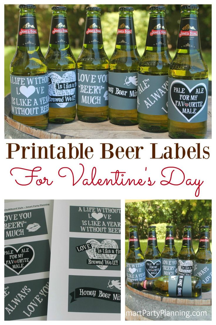 "Say ""I Love You"" with beer! DIY Valentine printable beer labels are absolutely perfect for Valentine's day. As far as gift ideas go, this one is a winner for the boyfriends and husbands. With some special love sayings (especially for beer), you can't go wrong with this DIY gift. #Valentinesdaygiftforhim #Valentinesdayideas #Printable #Beerlabel #Valentinebeer"