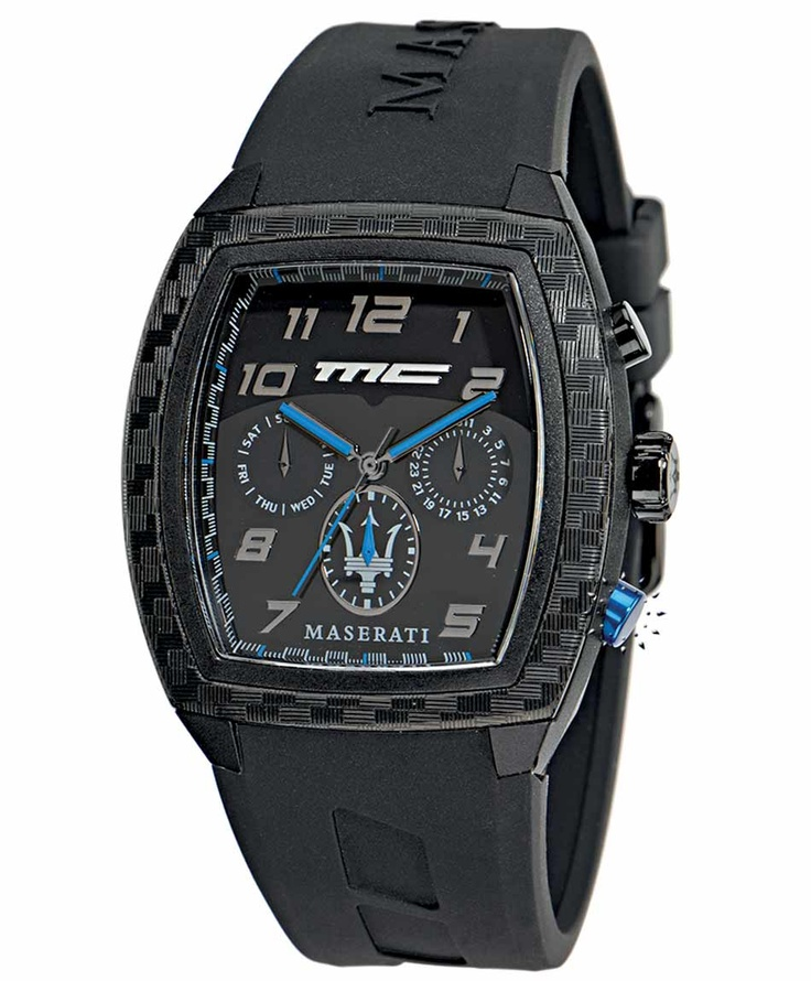 MASERATI Passione Multifaction Black Rubber Strap Μοντέλο: R8851104024 Τιμή: 145€ http://www.oroloi.gr/product_info.php?products_id=33443
