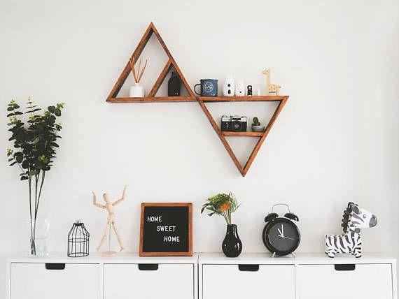 2 triangle shelves large triangle shelves pallet wood shelf
