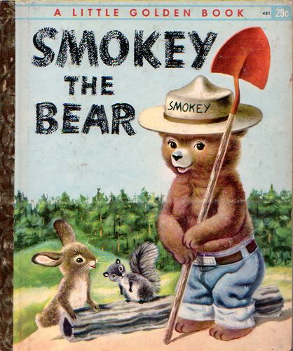 Smokey the Bear, Illustrations by Richard Scarry, 1955- Cover