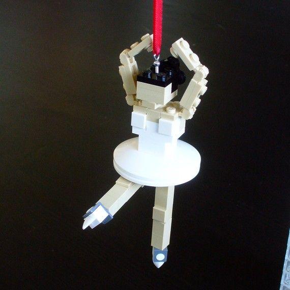 ballerina lego ornament. cool.