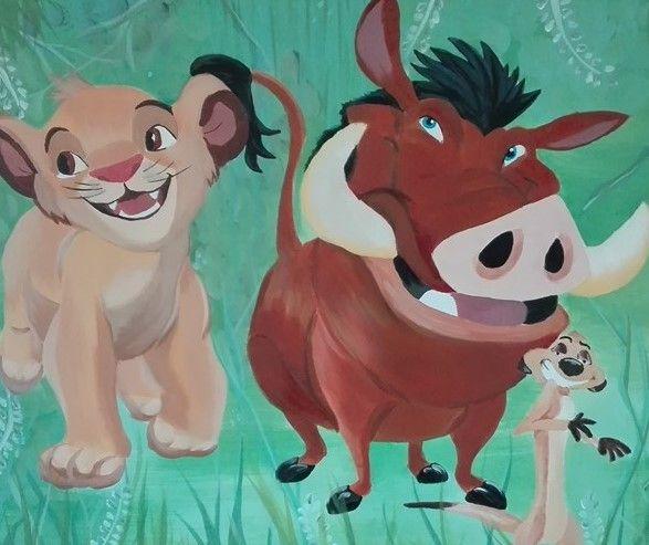 Lion King, Project K, painting, schilderij, acryl