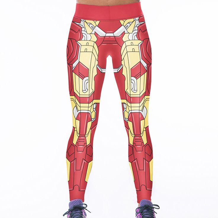 Legging Fitness Yoga Iron Man Printed Activewear For Women Gym Push UP Stretch Yoga Pants Ropa Deportiva Para Mujer Gimnasio #Affiliate