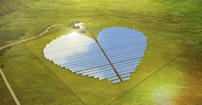 Impianto fotovoltaico a forma di cuore. #nuovacaledonia #oceanopacifico #energierinnovabili