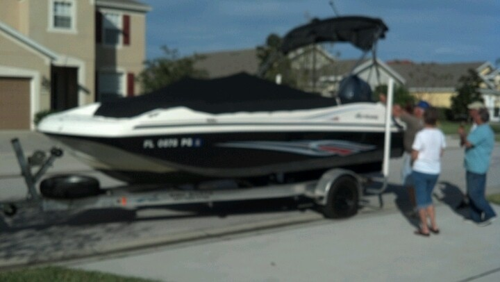 Hurricane party barge for sale...2011 with 115 hp yamaha