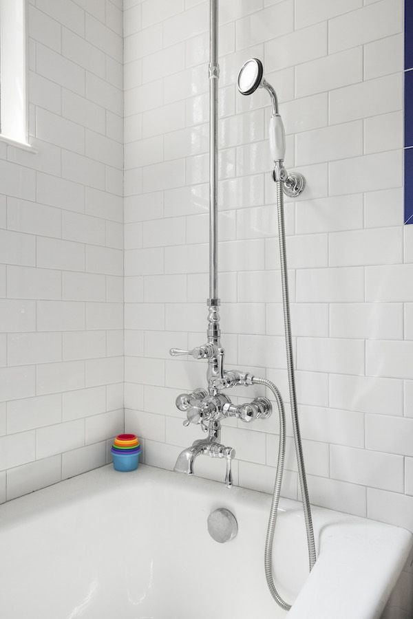 Color And Charm In A Designeru0027s Tudor Townhouse. Bathroom ShowersShower  FixturesFixer ...