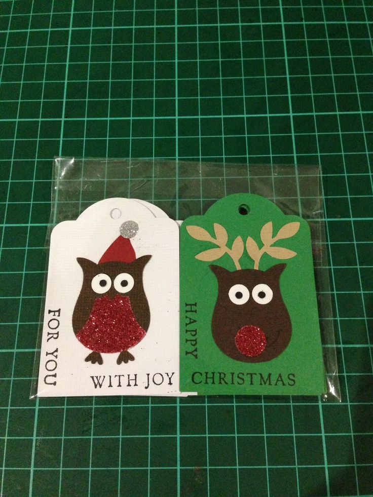 Stampin Up!  Owl punch Christmas Gift tags set