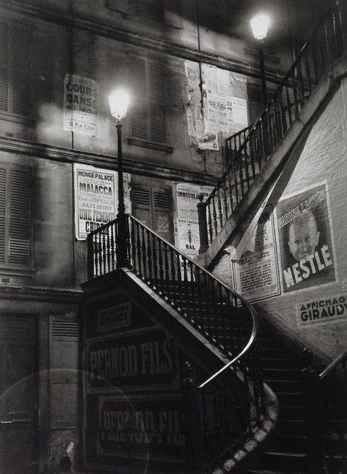 Brassaï, Staircase in the rue Rollin, 1933-1934