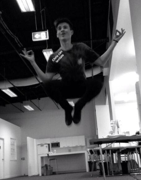 Chris can levitate