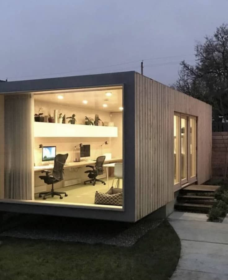 20ft container tiny home gym storage office art