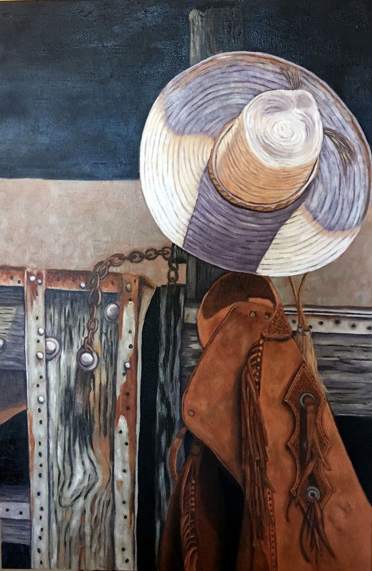 """""""MY Workin"""" Clothes""""  24 x 36""""  oil   available"""