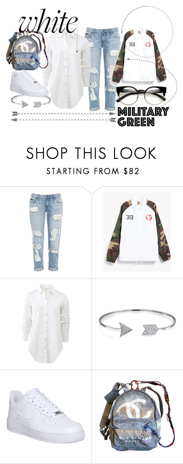 """Comfortable thing."" by ro-mondryk on Polyvore featuring Carhartt, rag & bone, Bling Jewelry, NIKE and Chanel"