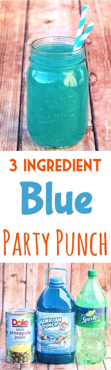 Blue Party Punch Recipes! This Summer Drink is so Refreshing!