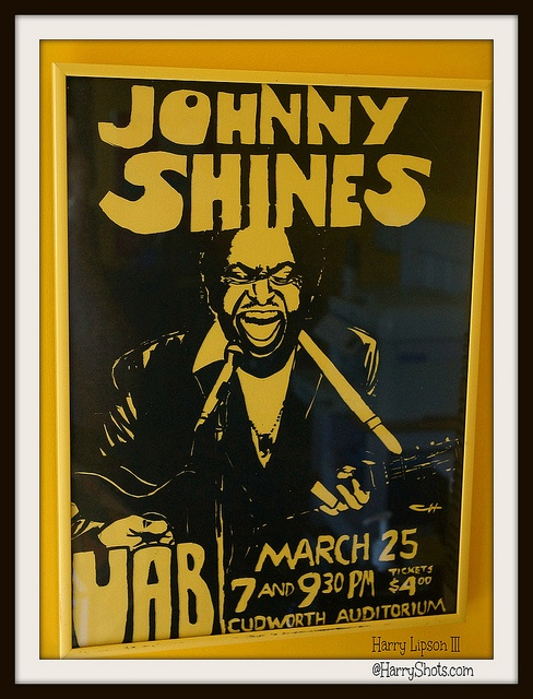 Legendary Bluesman Johnny Shines 1978 Concert Poster- photo by Harry Lipson III @HarryShots.com