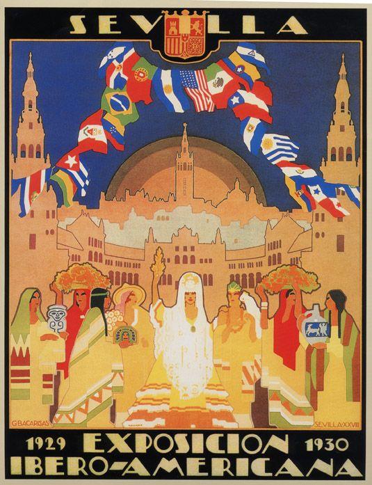 Cartel Oficial de la Exposición Iberoamericana de Sevilla de 1929