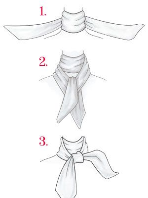 How to: Tie a Silk Scarf