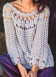 Patrones de Tejido Gratis - Maxi Túnica (crochet) free