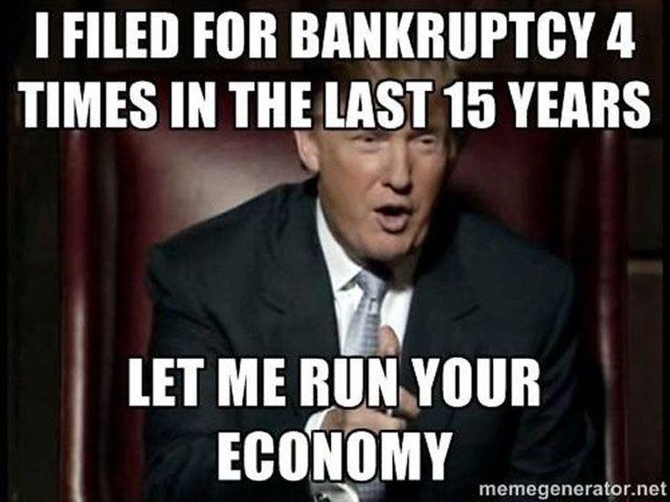 Funny Donald Trump Memes: Trump's Bankruptcies