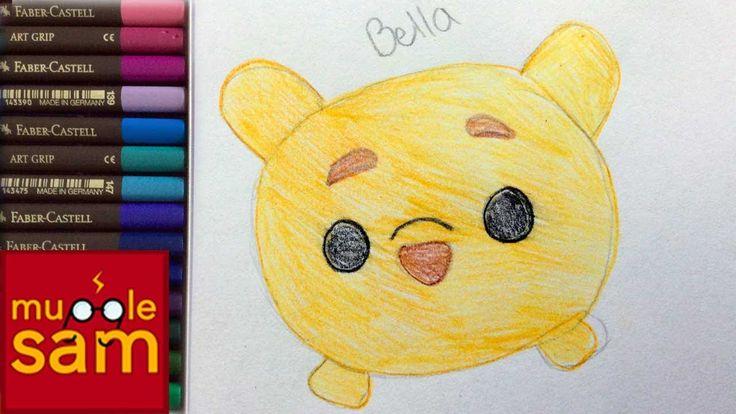Kids Art Challenge! Drawing Disney's Winnie The Pooh Tsum Tsum | Mugglesam