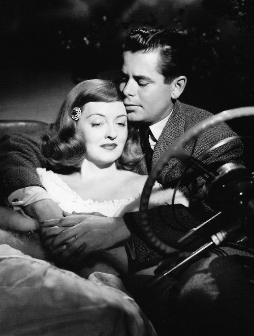 Bette Davis and Glenn Ford - A Stolen Life 1946 ~ Because of her constant insistence for better productions to work on, and an overall better atmosphere on set, Jack L. Warner asked Bette Davis to produce the film. It would be the first and only time she would be able to do this. Reportedly, she was so overworked and also intrigued by this job that she started a relationship with the director of this film to iron out her mind.
