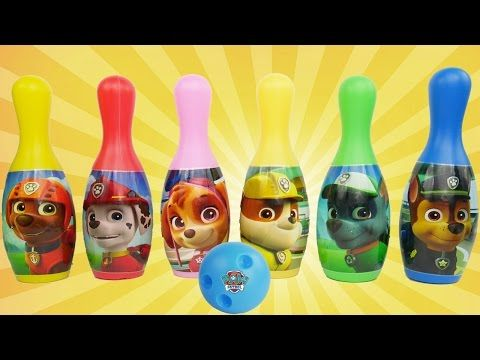 PAW PATROL Bowling Set with Chase, Skye, Marshall & Toy Surprises Best Toys for Christmas 2016 - YouTube