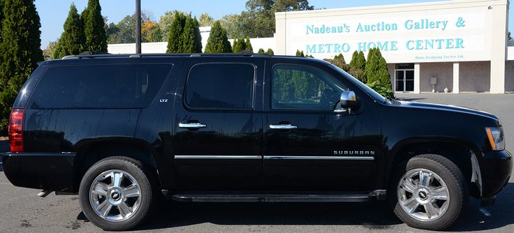 2010 Chevrolet Suburban 1500, 4 Door, Sport Utility LTZ. Black with black leather interior. 55,166 miles  ~ Realized Price $26,400.00  #nadeausauction