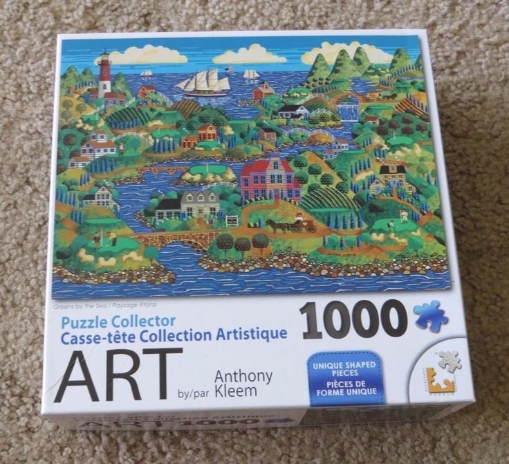 Greens by the Sea Anthony Kleem folk artwork series Jigsaw Puzzle 1000 Pieces pc #LPFPuzzle