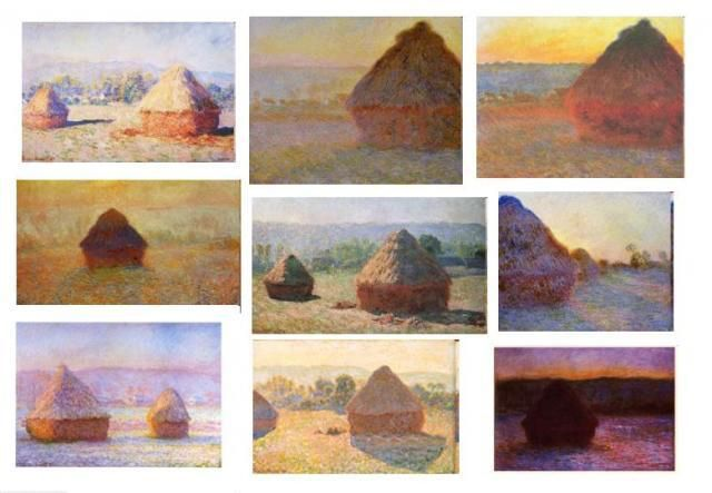 "Monet-Almiares (1890) ""las sombras son color"""