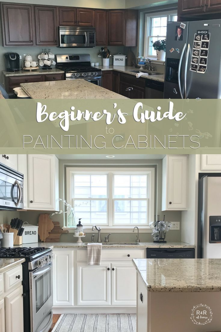 The Beginner S Guide To Painting Your Kitchen Cabinets Home Kitchens Kitchen Remodel Home Diy