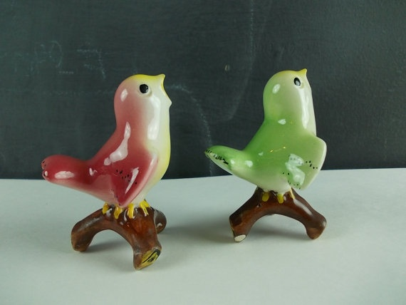 Vintage Songbirds 1950s Ceramic Bird Figurines Made In