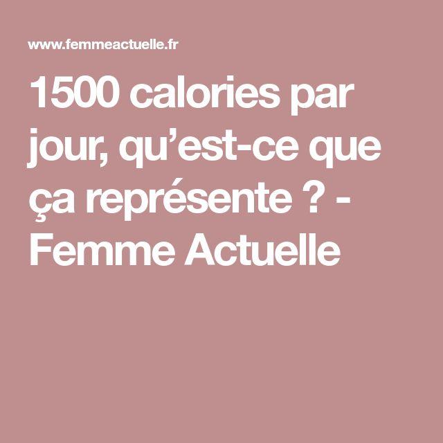 1500 calories par jour, qu'est-ce que ça représente