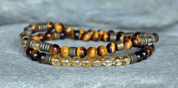 Wealth 54 Mala beadswrap braceletCitrine by CrystalsAndRainbows