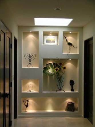 Pared luz decoración minimalista