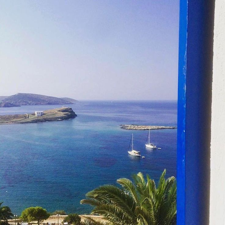 Gorgeous shades of Blue in Greece at the small island of Schinoussa (Σχοινούσα)
