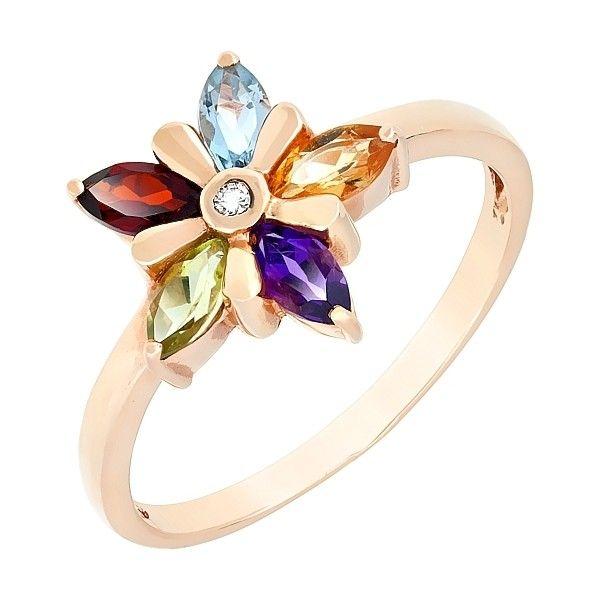 Кольцо с бриллиантом и полудраг. вставками mg_27039