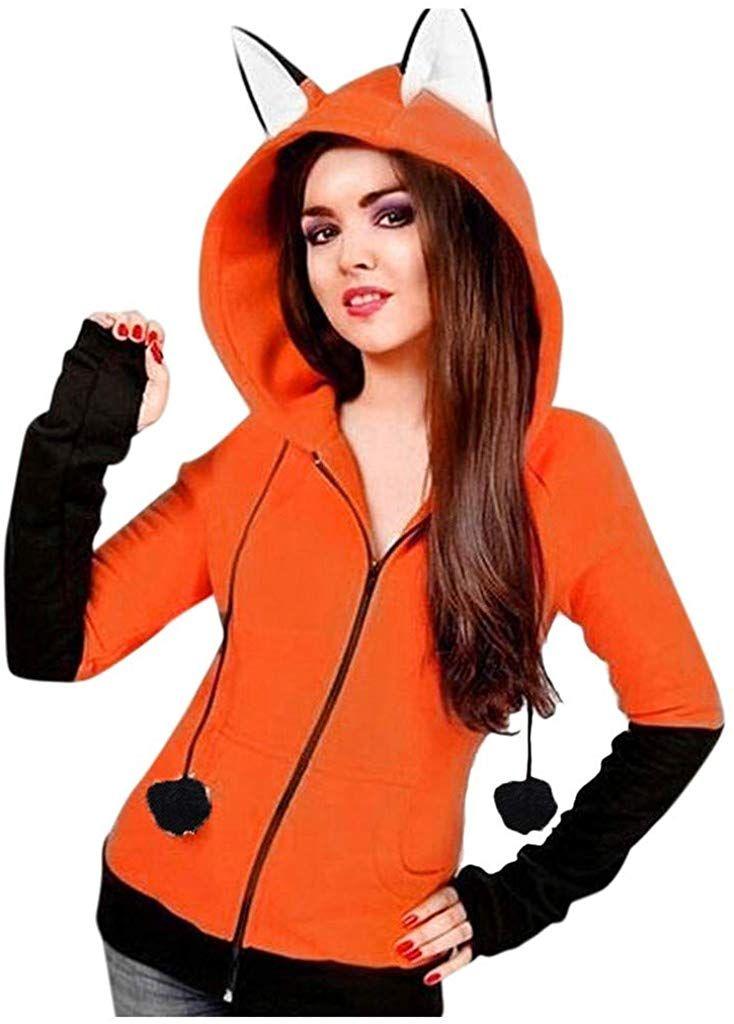 Yoyorule Long Sleeve Sweatshirts for Womens Fashion Casual Pacthwork Long Sleeve Hoodie Sweatshirt Hooded Tops Blouse