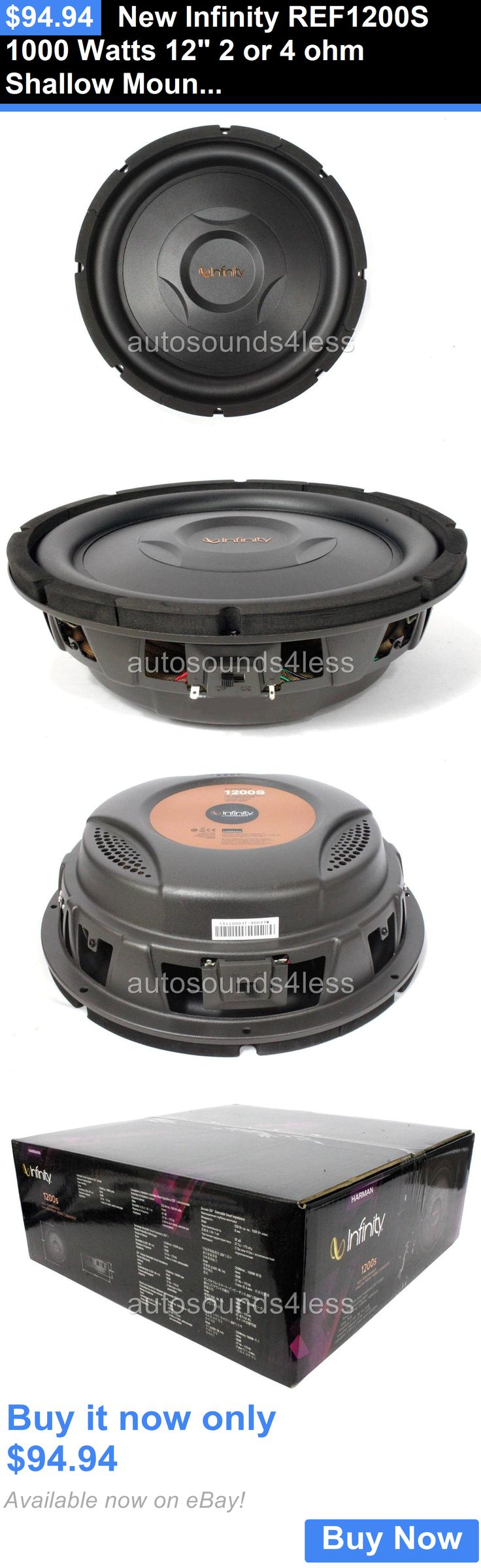 Car Subwoofers: New Infinity Ref1200s 1000 Watts 12 2 Or 4 Ohm Shallow Mount Truck Subwoofer BUY IT NOW ONLY: $94.94