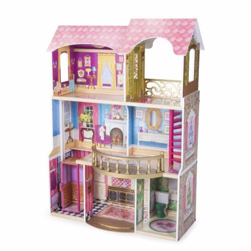 New-Dollhouse-Doll-House-Furniture-with-Miniature-Pieces-and-free-shipping