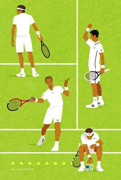 Roger Federer, Novak Djokovic, Andy Murray, Rafa Nadal.