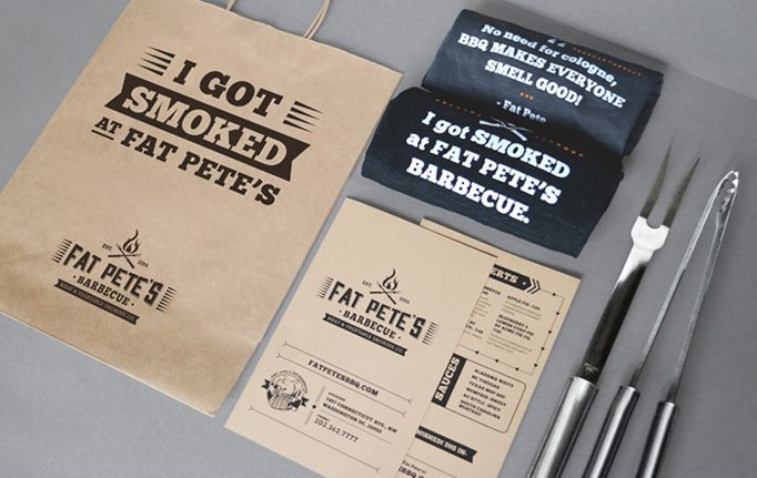 Ministers of Design / Fat Pete's BBQ #graphic #design #identity #print #menu