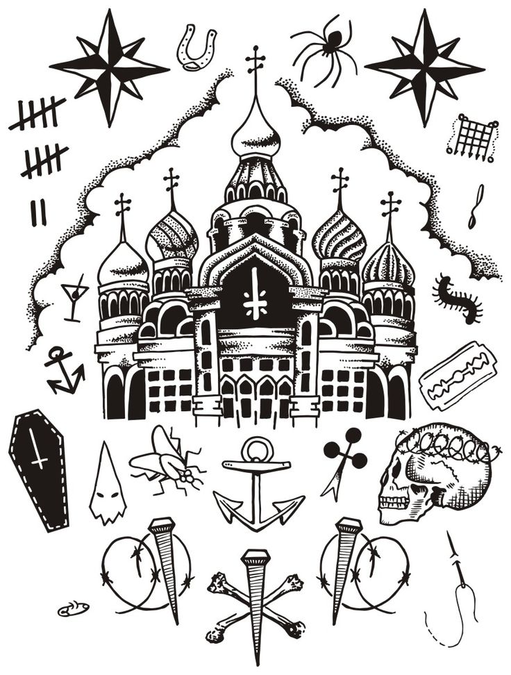 Certain tattoo designs have developed recognized coded meanings  russian-prison-tattoos.jpg (879×1162)