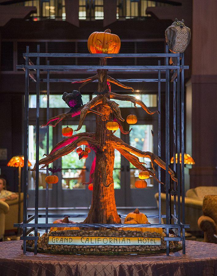 Halloween 'Tree-t' on Display in Disney's Grand Californian Hotel & Spa Lobby