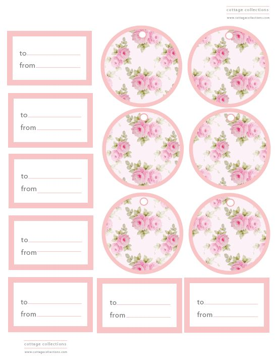 printable tags | Cottage Collections Free Printable Tags